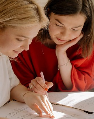 A teenager getting tutoring services